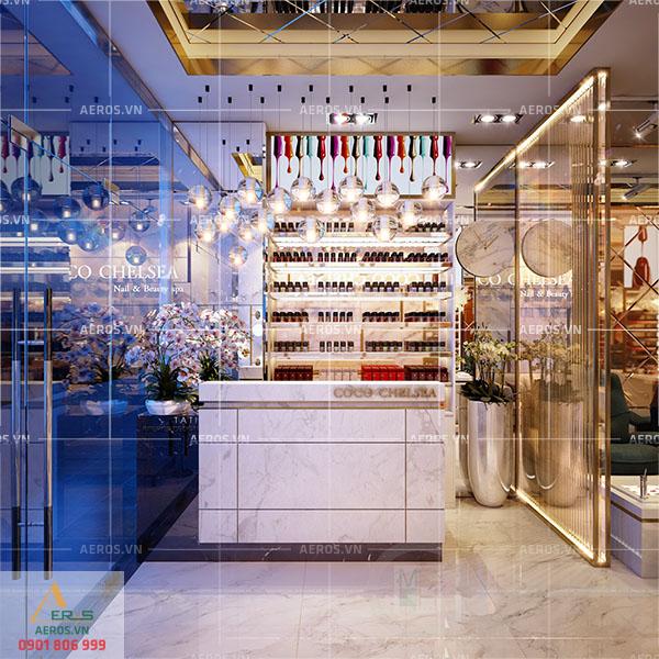 Thiết kế cửa hàng nail Coco Chelsea của chị Trang tại quận 5