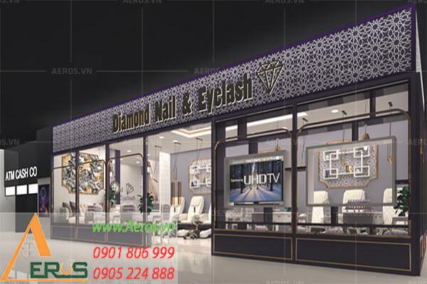 Thiết kế tiệm nail Diamond Nail & EyeLash của anh Chung tại quận Bình Tân