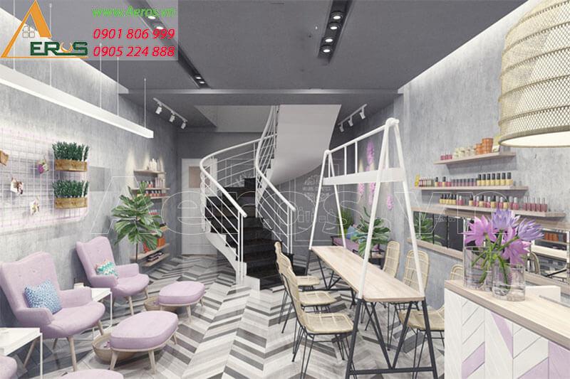 Thiết kế nội thất tiệm nail Misthy của chị Thy tại quận 1