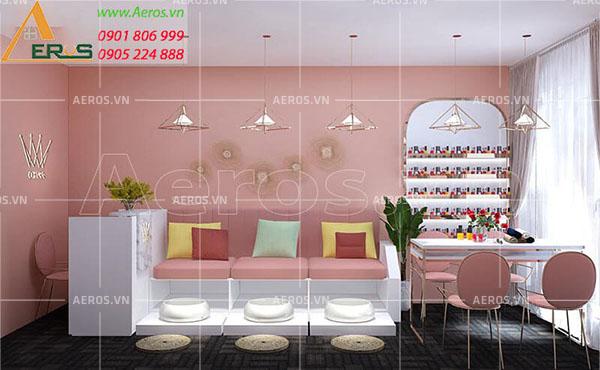 Thiết kế tiệm nail Ohara của chị Nguyệt tại quận 7