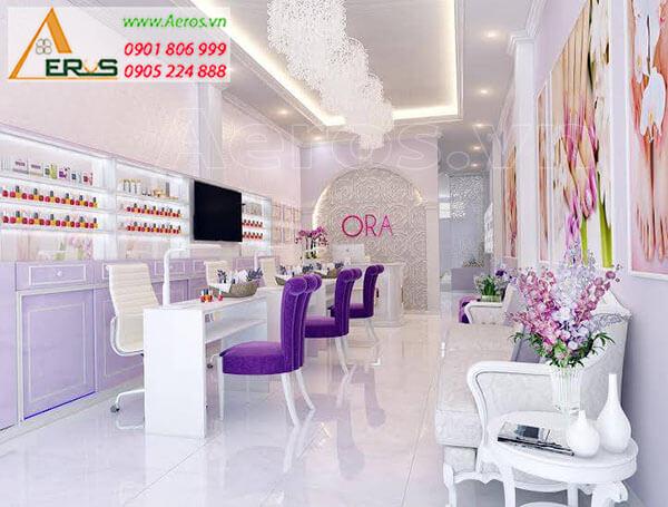 Thiết kế tiệm nail Ora của chị Mai tại quận Bình Thạnh