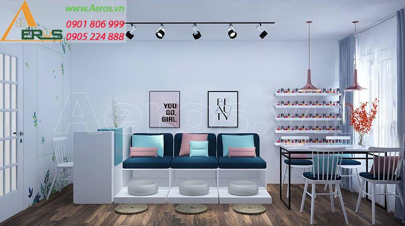 Thiết kế tiệm nail Oyack của chị Trang tại quận 6