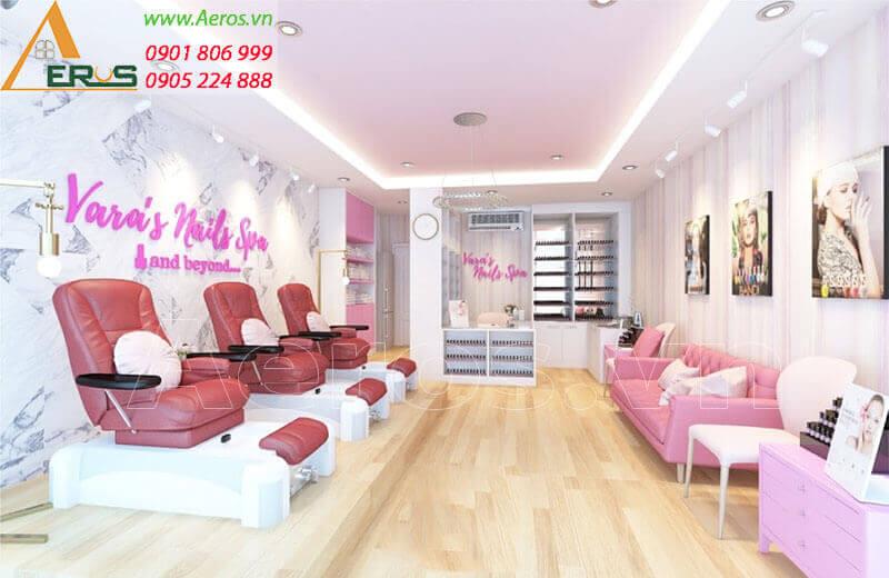 Thiết kế cửa hàng nails Yara của chị Yara tại quận Tân Phú