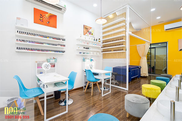 thiết kế tiệm nail neo beauty
