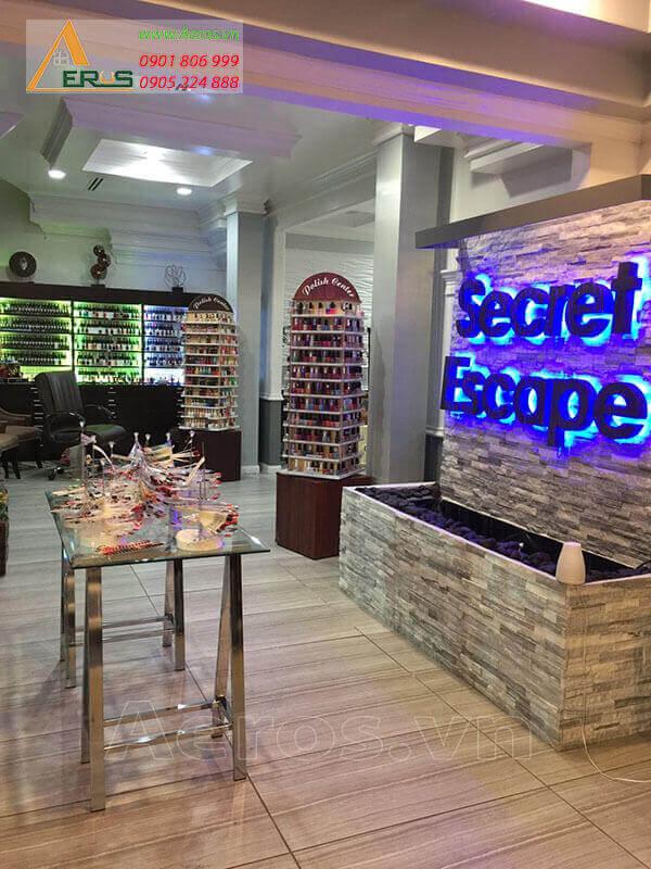 Thiết kế tiệm nail Secret Escape của chị Tuyết tại quận 10