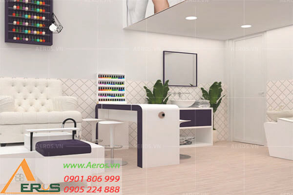 thiết kế tiệm nail spa trâm