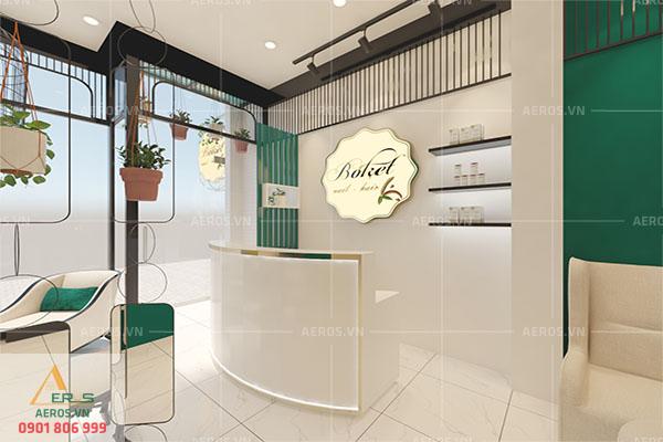 Thiết kế tiệm nail Boket của chị Hiền tại quận Phú Nhuận