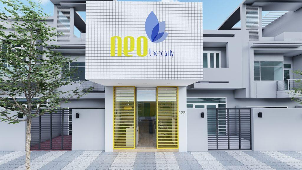 Thiết kế tiệm nails Neo Beauty của chị Giang tại quận Phú Nhuận