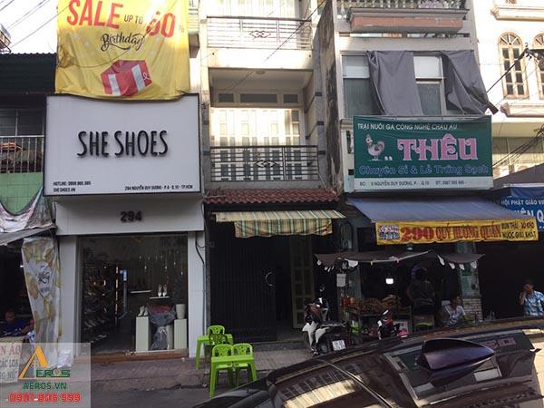 Hiện trạng thi công tiệm nail Vân Khuê tại quận 10, TP.HCM