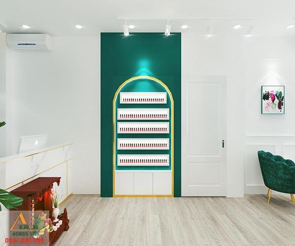 Thiết kế nội thất tiệm nail Vân Khuê tại quận 10, TP.HCM