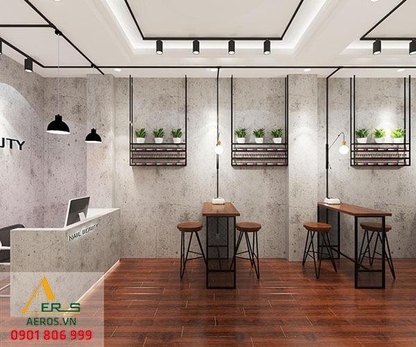 Thiết kế tiệm nails Nail Beauty của chị Thùy Anh tại quận Tân Phú