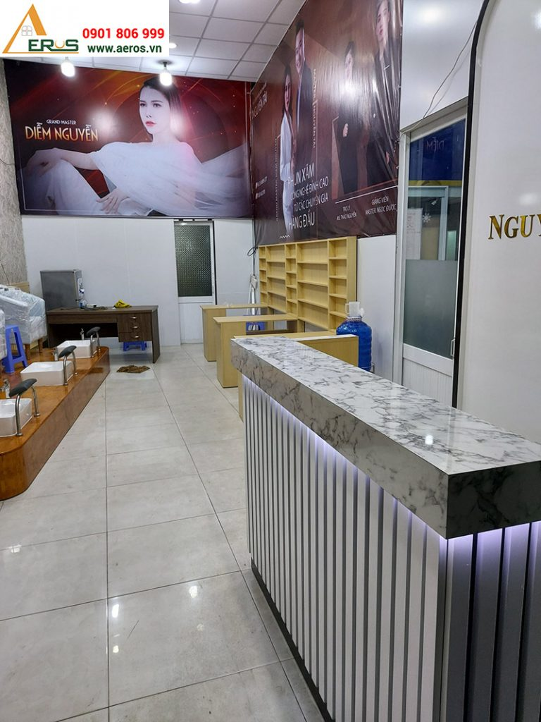 Thi công tiệm nail Diễm Nguyễn tại quận 9, TPHCM